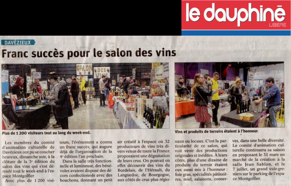 Article sdv le dauphine apres salon 2