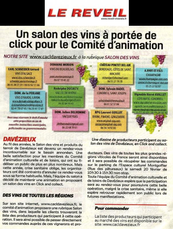 Article sur le Salon des Vins 2021(1)