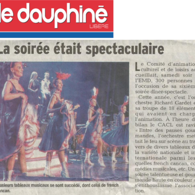 Diner spectacle 2018 le dauphine