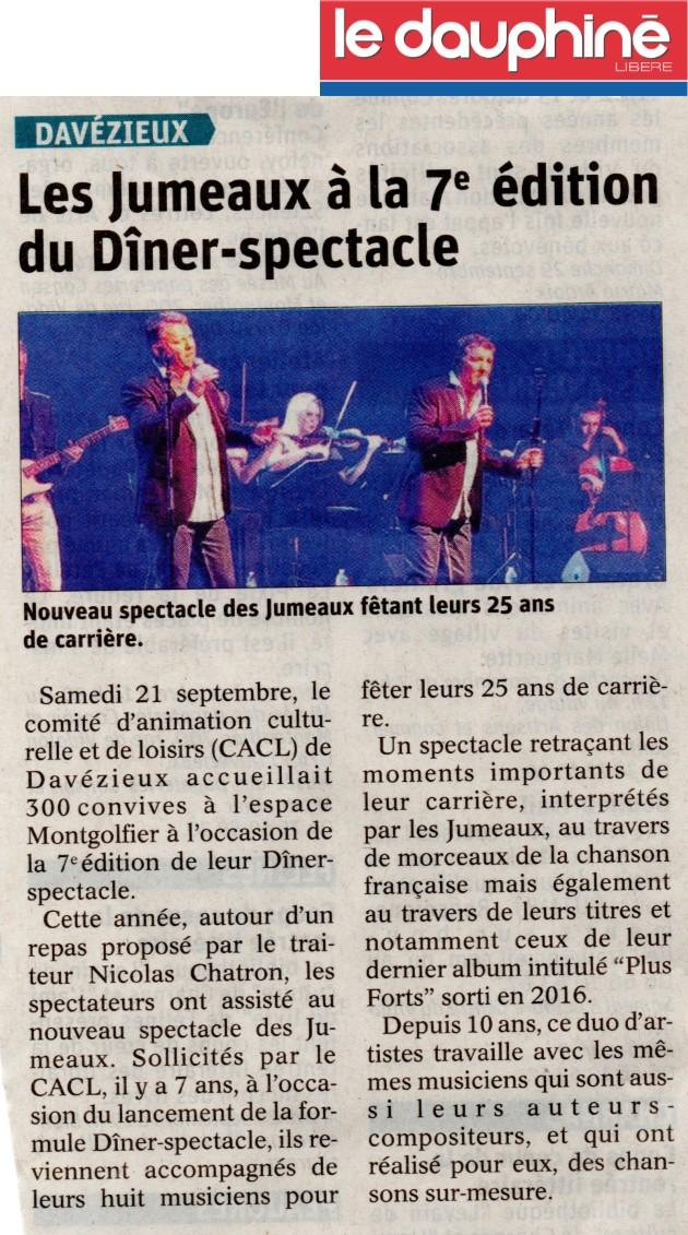 Diner spectacle dauphine 2
