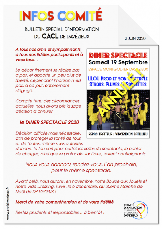 Infos cacl ds annulation